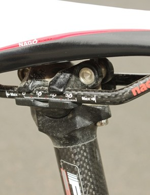The Nack carbon rails proved durable in our test