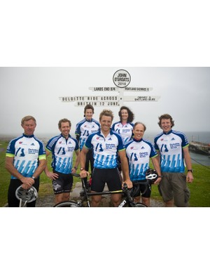 James Cracknell and some of the RAB riders