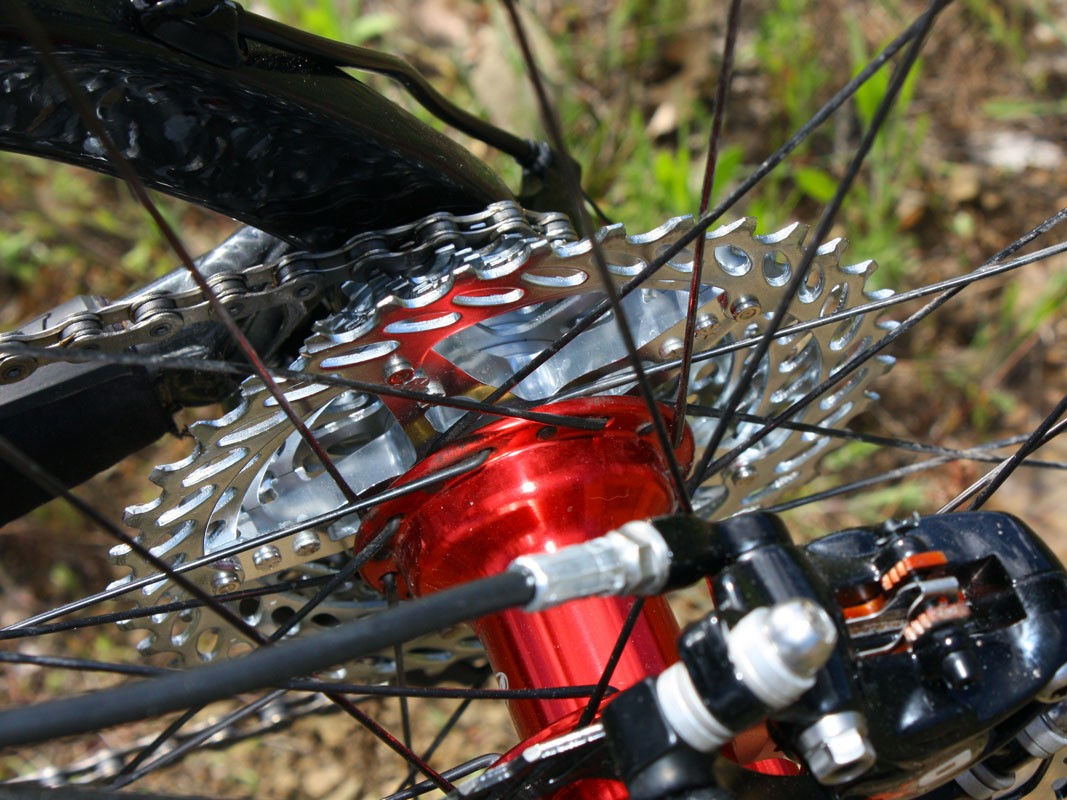 We ran a semi-spidered SRAM PG-1070 cassette during our initial rides and found it to be quiet running and smooth shifting. But a far more trick XG-1080 cassette is coming later this year with XX-like features