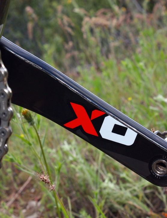 SRAM kicked off the crankarm graphics trend with their Red road group and continue to extend it with X0