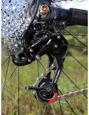 SRAM's iconic X0 rear derailleur receives a major update with 10-speed Exact Actuation geometry, improved pivot and hardware durability, and an updated look
