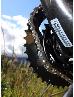SRAM's trick X-Glide front shift technology includes over a dozen points where the chain can mesh perfectly between both chainrings for far smoother upshifts and downshifts than most of us are used to