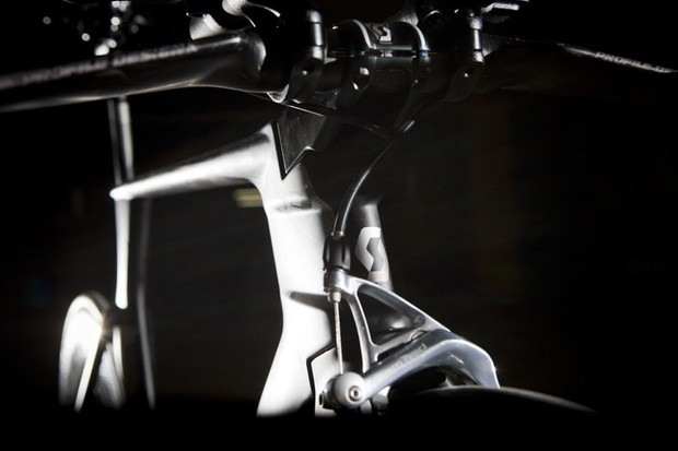 Scott's Plasma Premium has its roots in the time trial bike used by Columbia in last year's Tour de France