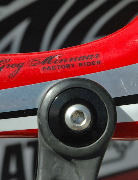 While it doesn't have a flashy World Championships style paintjob, there are still lots of personal touches on this bike