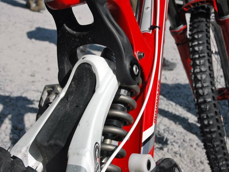 The team are trying out two different carbon upper links