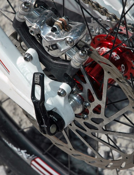 A 12mm axle secures the rear end
