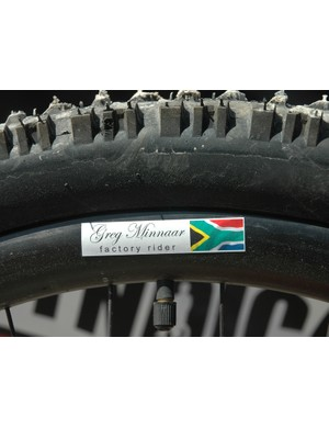 Greg even has his name and the South African flag on his rims