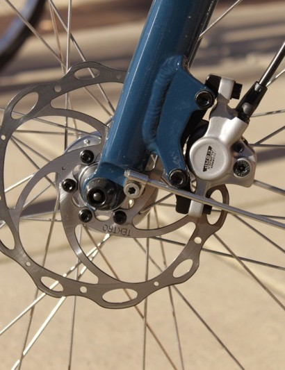 Tektro's Auriga Comp hydraulic disc brakes worked well in our test