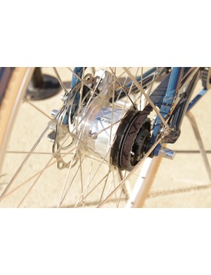 Shimano's Alfine hub only needed to be adjusted once in our six month test