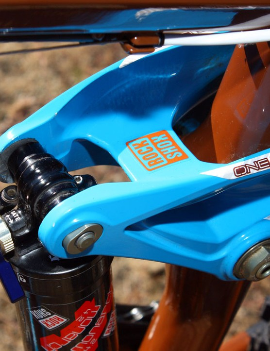 The one-piece magnesium rocker goes a long way towards keeping the back end tracking true