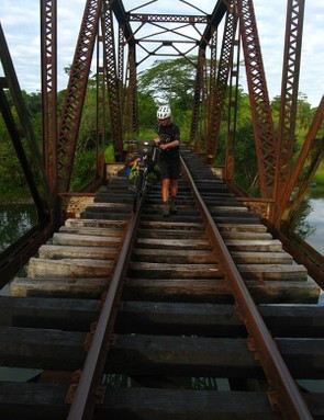 Heading to the Caribbean side of Costa Rica along an abandoned railway line