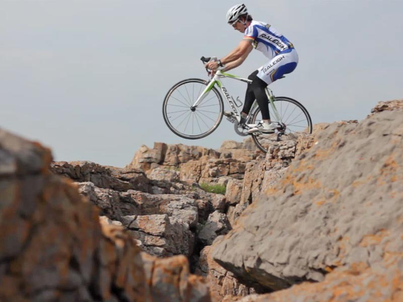 Martyn Ashton on the rocks