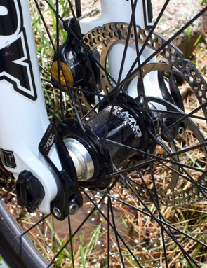 Our test bike came with a special wheel upgrade that included Chris King hubs and Edge Composites carbon rims
