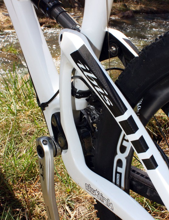 Ibis make good use of the available room, placing a stout single vertical strut on the non-driveside to reinforce the rear triangle
