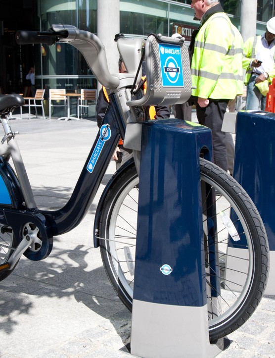 The first of many London Bike Hire stations