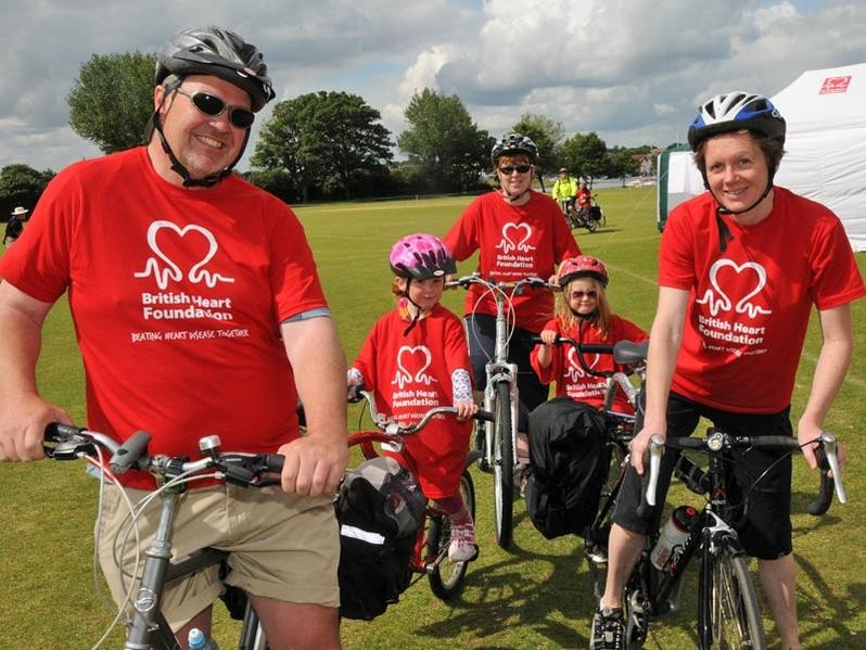Sign up for the British Heart Foundation track ride