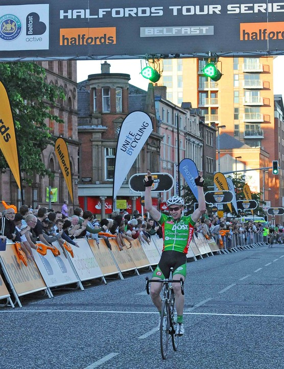 David O'Loughin wins the Belfast stage by a street