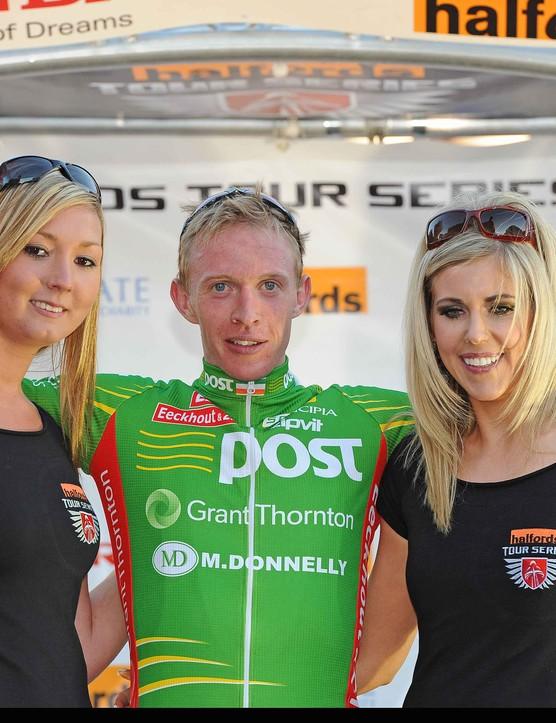 The proud Belfast winner on the podium