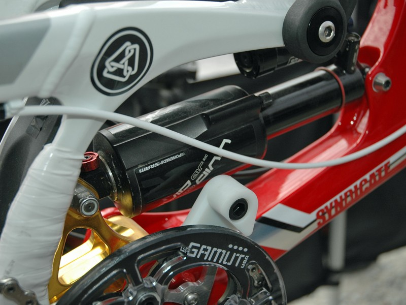 The squad have been running the new RockShox Vivid Air rear shock for some courses