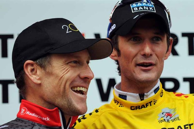 Lance Armstrong and Frank Schleck