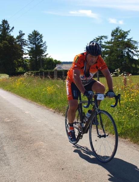 Bob Meadows perseveres on the Mega course
