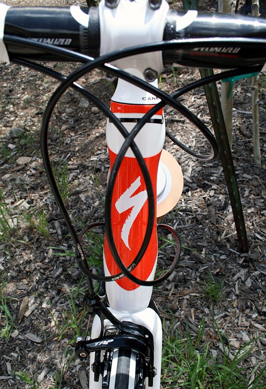 A tapered head tube for more stiffness