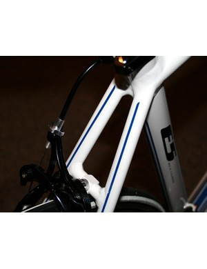 Triangulated seat stays on the Allez E5 Comp