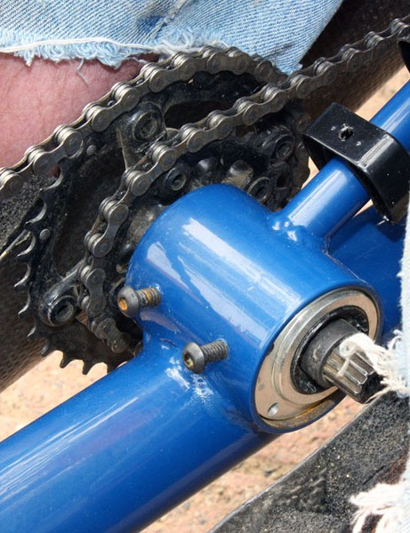 Eccentric chaining on O'Connell's bike