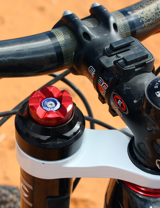 When it's time to head back downhill, riders only have to smack down the big red button to open up the damper