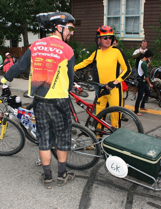 This chainless racer made sure to be well hydrated during his run – and yes, we checked that the cooler was full
