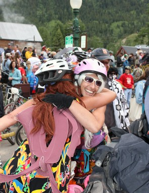 One non-negotiable requirement of the chainless downhill was to have fun – and it looks like everyone involved complied