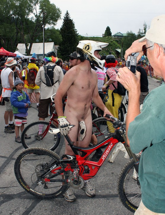 No surprises, here: there's always at least one person who interprets 'costume' as 'naked'