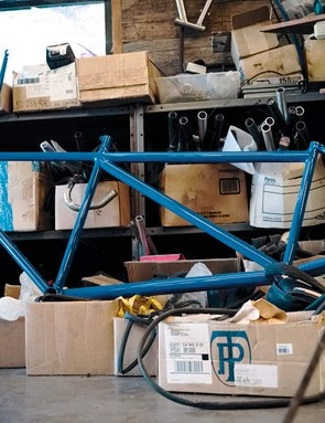 Tom has already  crafted a tandem frame for his second wife and himself