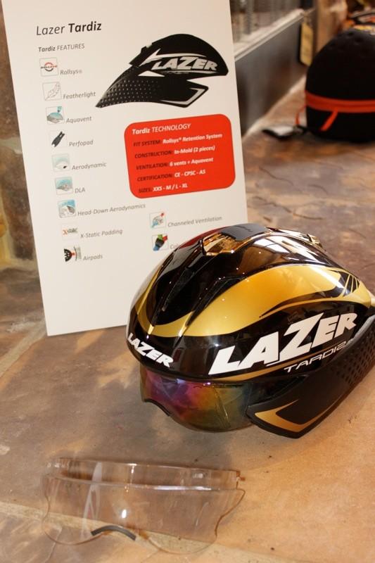 Lazer's 2011 Tardiz with integrated eye shields