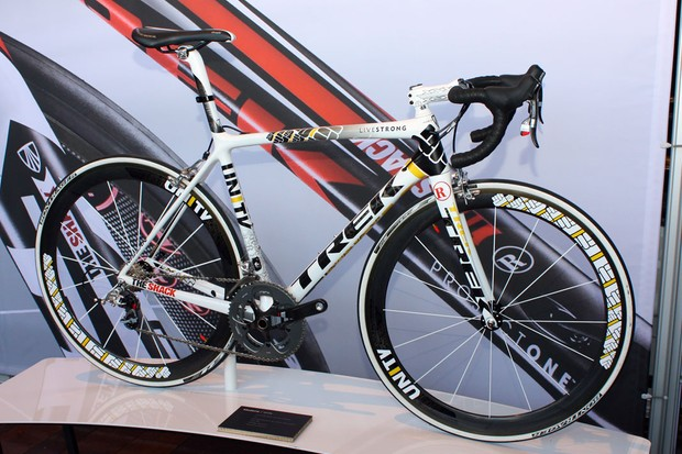 The new Unity paint scheme is one of the most striking of the Madone range
