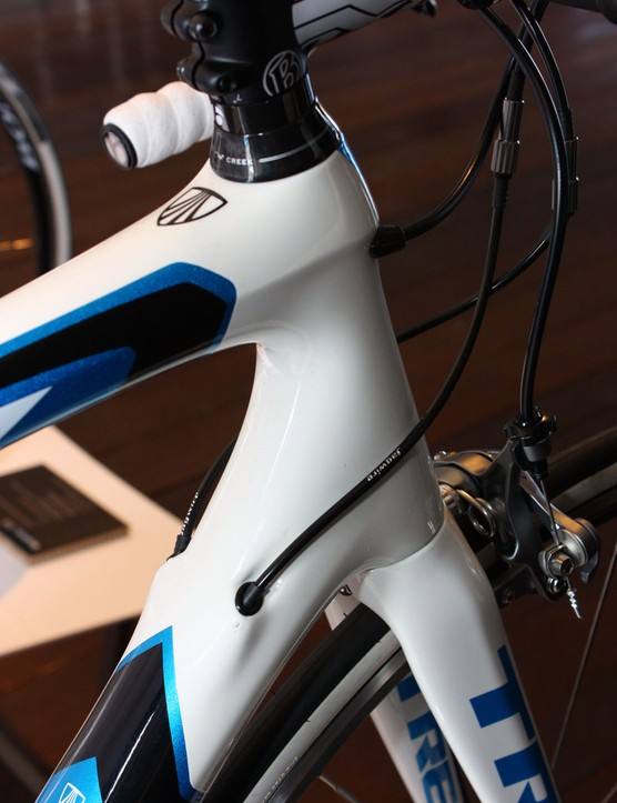 Internal cable routing is another new feature on the 2011 5 Series Madone frames that is carried over from the 6 Series