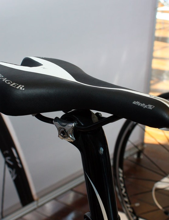 Bontrager are launching a new Affinity range of road saddles with a more pronounced depression