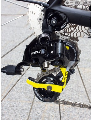 The SRAM Red LTE group is functionally identical to the standard package aside from the special graphics