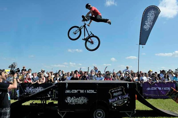 The high flying Animal stunt team will be back in action at BikeRadar Live 2010