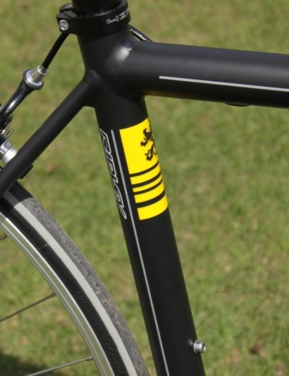 The Lion can also be found on the seat tube