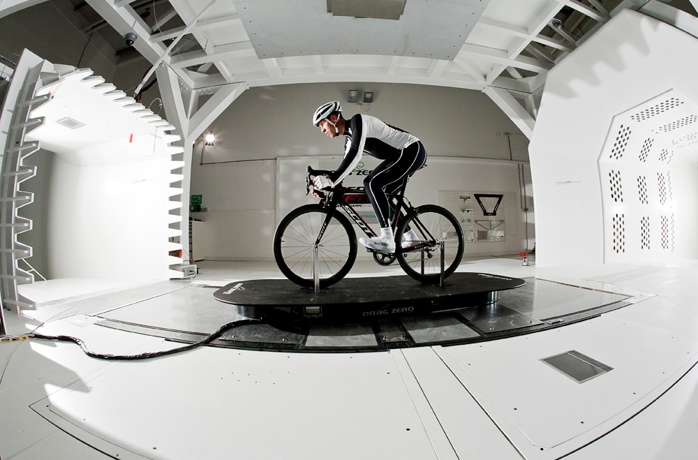 Testing of the new Project F01 was done with real riders and mannequins at the Mercedes-Benz Grand Prix wind tunnel