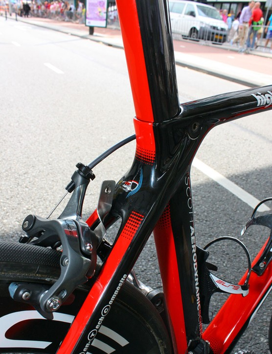 The shapes don't look aerodynamic but Scott insist there's roughly a 20 percent improvement over their current Addict