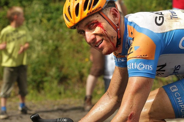 American cyclist Christian VandeVelde, 34, of team Garmin-Transitions