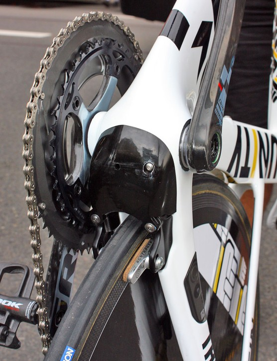 A removable cap allows access to the brake cable
