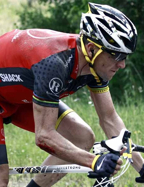 Lance Armstrong was another crash victim on Monday