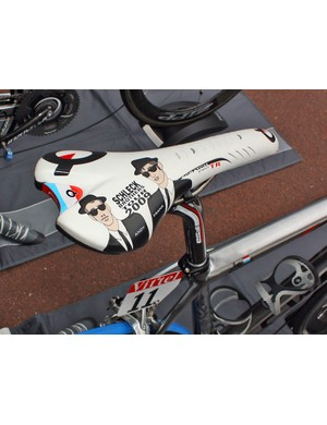 We're guessing Andy Schleck is either too fond of this saddle to switch or Prologo haven't had enough time to create a 2010 version