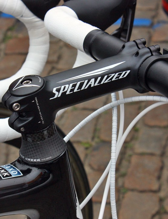 Saxo Bank are using Specialized's angle-adjustable S-Works Pro-Set stem