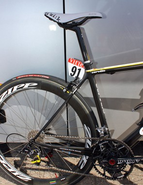 The new R5 expands on Cervelo's 'big chainstays, small seatstays' design philosophy