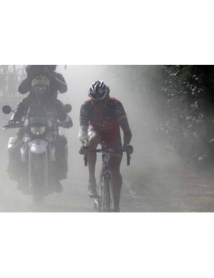 Lance Armstrong in the dust