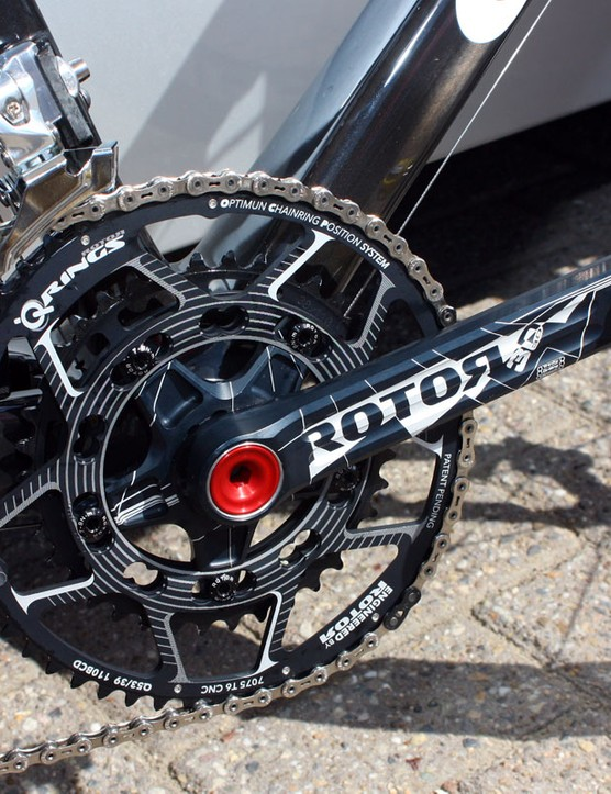 Rotor have developed new Q-Rings for the team with updated tooth patterns for smoother downshifting plus new graphics